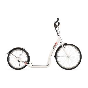 Goedkope fiets Bike Fun step Bike2Go 24 Inch Unisex V Brake Wit