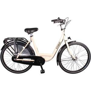 Goedkope fiets Burgers ID Personal 26 Inch 50 cm Dames 7V Rollerbrake Crème