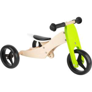 Goedkope fiets Small Foot Tricycle Trike 2 in 1 loopfiets 10 Inch Junior Groen