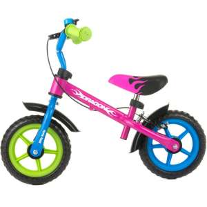 Goedkope fiets Milly Mally loopfiets Dragon 10 Inch Junior Knijprem Multicolor