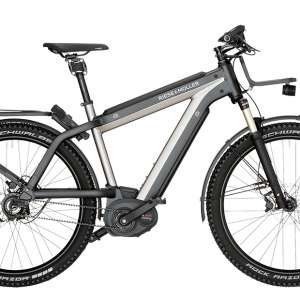 Goedkope fiets Riese & Müller Supercharger GX Rohloff HS 500Wh Heren 45km - S - Urban Silver Metalic